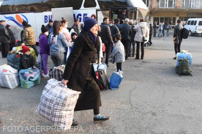 Refugiați din Nagorno-Karabakh - imagine ilustrativă