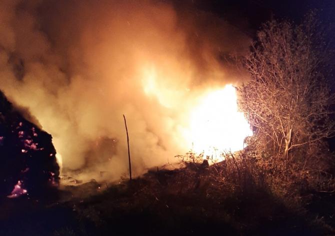 Incendiu. Foto: ISU Vâlcea