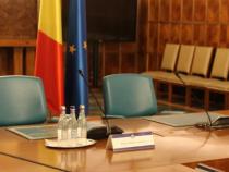 Fotoliile de președinte și cel de premier de la Palatul Victoria  Foto: Crișan Andreescu