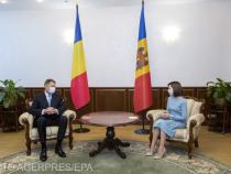 Președintele Klaus Iohannis, în vizită la președintele Republicii Moldova, Maia Sandu