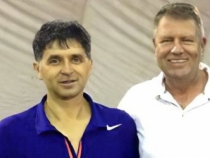 Marius Daniel Vecerdea, alături de Klaus Iohannis. Foto: Romaniatv.net