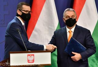 Premierul polonez Mateusz Morawiecki și omologul său ungar Viktor Orban își mențin  pozițiile  cu privire la bugetul UE