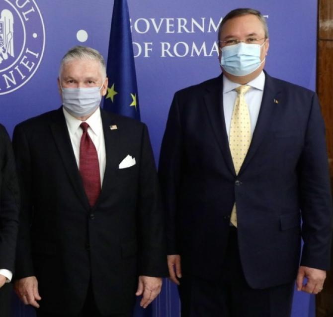 Premierul interimar, Nicolae Ciucă, la Ambasada SUA din București pentru a primi   Legiunea de Merit