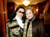 Angela Gheorghiu, alături de Luminița Constantinescu. Foto Facebook Angela Gheorghiu