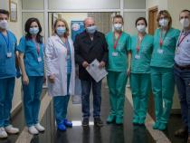 Traian Băsescu s-a vaccinat împotriva COVID-19. Sursa: Facebook Spitalul Militar Central Carol Davila