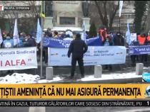Sindicaliştii, protest la Cotroceni