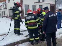 Explozie într-un canal din Bistrița. Foto: ISU Bistrița-Năsăud