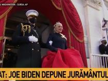 Lady Gaga, apariție uimitoare la învestirea lui Joe Biden / Captură Antena 3