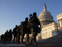 Măsuri de securitate fără precedent la învestirea lui Biden. Garduri cu sârmă ghimpată și 25.000 de militari ai Gărzii Naționale păzesc centrul Washingtonului / Foto Agerpres