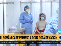 Mihaela Anghel, primul român vaccinat anti COVID-19, primeşte a doua doză