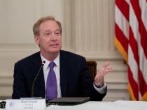 Președintele Microsoft, Brad Smith. Critici pentru atacul presupus rusesc asupra SolarWinds