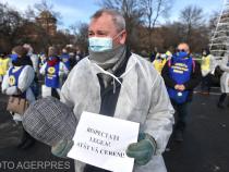 Sindicaliștii au protestat din nou față de măsurile luate de Guvern.