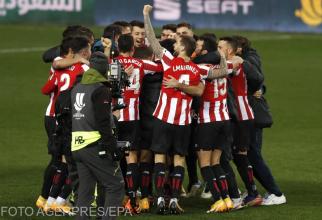 Athletic Club celebrează victoria cu Real Madrid și accederea în finala Supercupei Spaniei