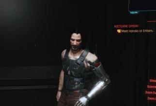 Keanu Reeves îl interpretează pe Johnny Silverhand în Cyberpunk 2077