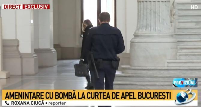 Alertă cu BOMBĂ la Curtea de Apel București. Roxana Ciucă: Eram în sala de judecată la procesul lui Udrea / Captură Antena 3