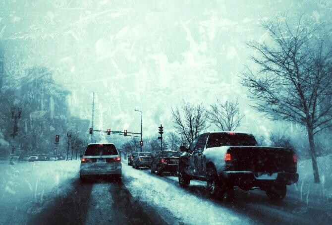 Autovehicule blocate din cauza viscolului. DSU a intervenit pentru salvarea a 15 persoane / Sursă foto: Pixbay