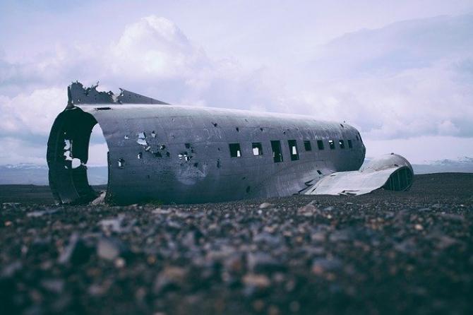 Avion prăbușit. Foto Pixabay. Imagine ilustrativă
