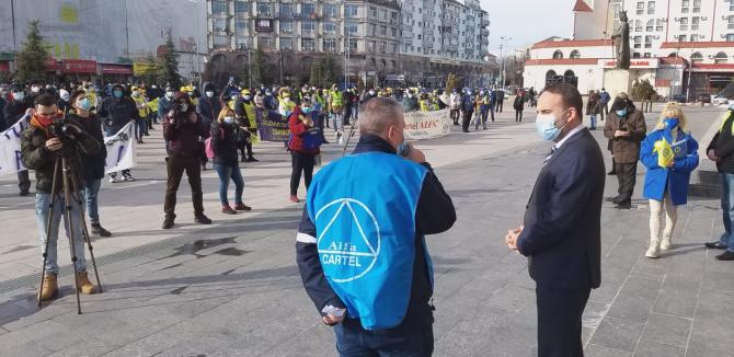 Protest la Targoviste, 14 ianuarie 2020. Sursa: Gazetadambovitei.ro
