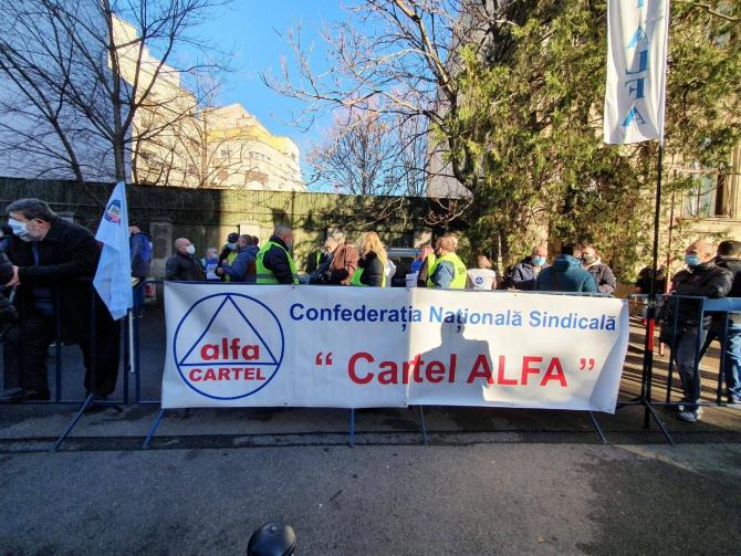Protest Cartel Alfa in Bucuresti