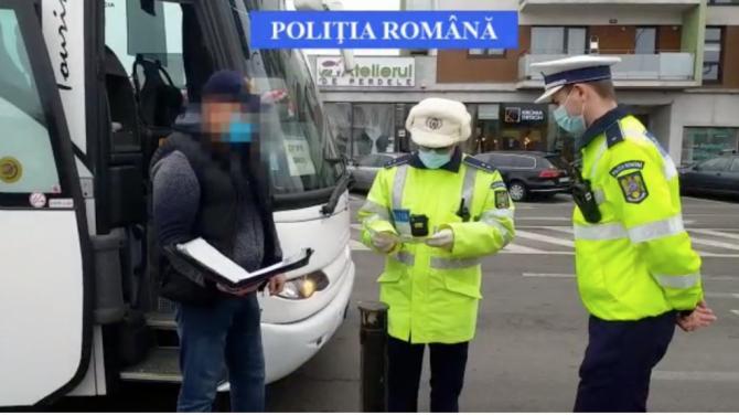 Mai mulți șoferi de autobuz au fost prinși băuți la volan.