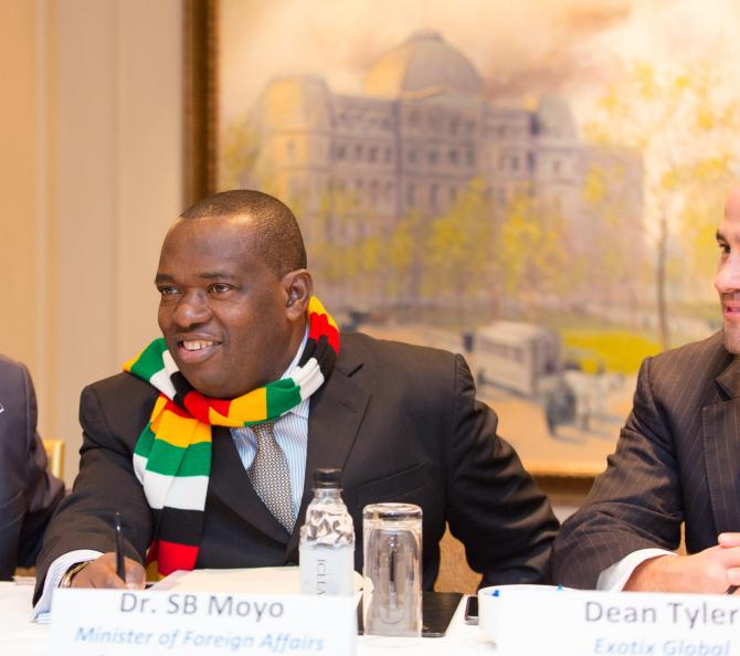 Sibusiso Moyo. Foto: Twitter / President of Zimbabwe
