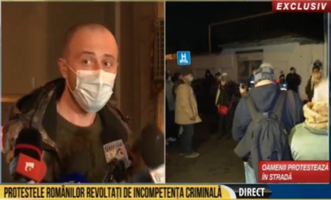 """Procurorii susțin declarații de presă în ancheta incendiului de la Spitalul """"Matei Balș"""". Foto: captură România TV."""