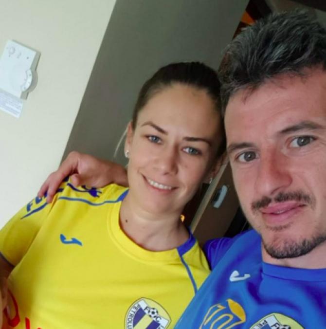 Laurențiu Marinescu și soția sa