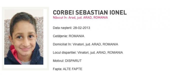 Sebi a dispărut în urmă cu două săptămâni / Captură Poliția Română