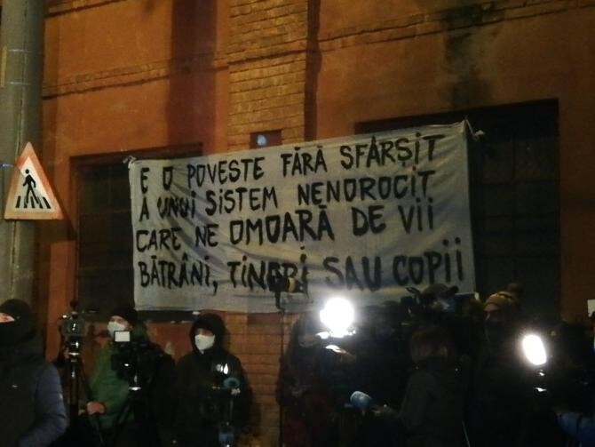 PROTESTE. Sursă foto: Facebook George Simion