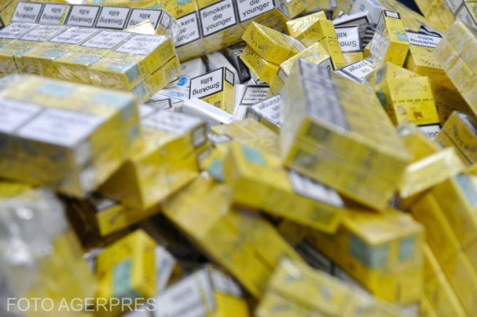 Contrabandă cu țigări în Maramureș. Foto cu caracter ilustrativ.