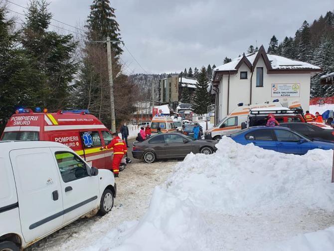 Intervenție urgentă a salvamontiștilor pe Valea Azugii. Foto: Salvamont Prahova.