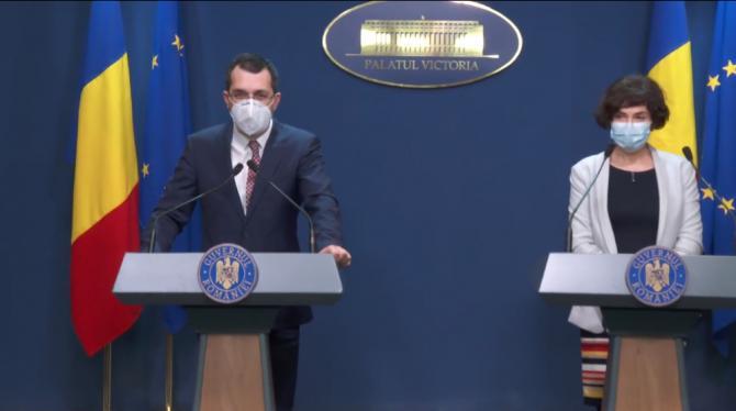 Vlad Voiculescu a semnat o comandă de nouă milioane de vaccinuri CureVac. Foto: captură video Guvernul României / Facebook.