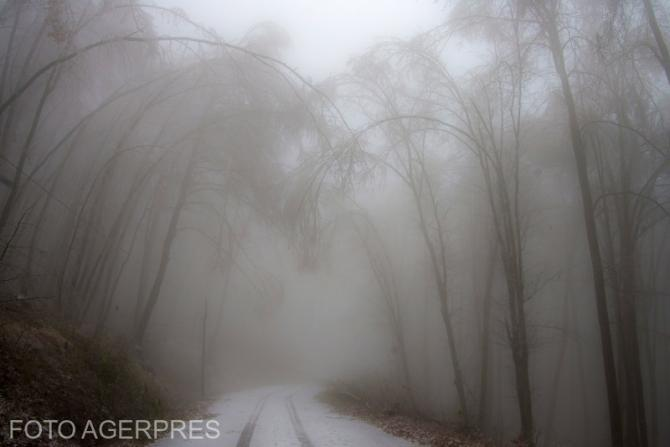 Meteorologii au emis mai multe avertizări pentru ceață.