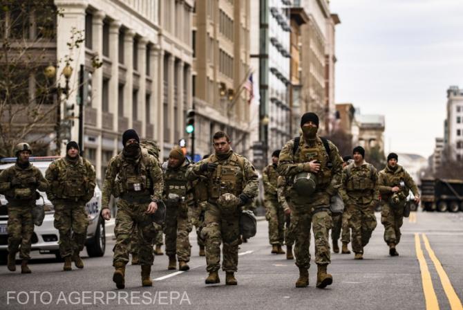 Washington, ca o zonă de război înainte de inaugurarea lui Joe Biden
