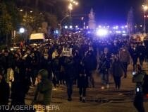"""Protest împotriva condamnării  rapper-ului  """"Pablo Hasel"""" din Barcelona"""