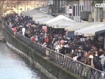 Aglomerație de nedescris la Milano. De luni, localurile se închid / Captură foto: Corriere TV
