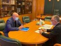 Ministrul Cîmpeanu, întâlnire cu Cozmin Gușă / Foto frjudo.ro