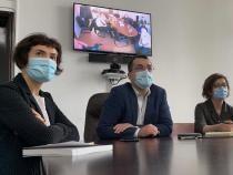Videoconferință pentru reorganizarea circuitelor COVID-19 și non-COVID-19 / Foto Ministerul Sănătății