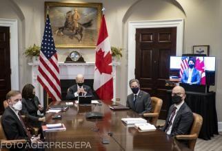 Joe Biden a avut o întâlnire cu Justin Trudeau, prima de acest gen din mandat