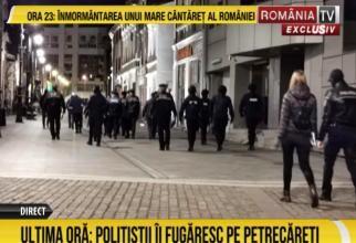 Zeci de polițiști au descins la localurile din centrul Craiovei  / foto: captură RTV