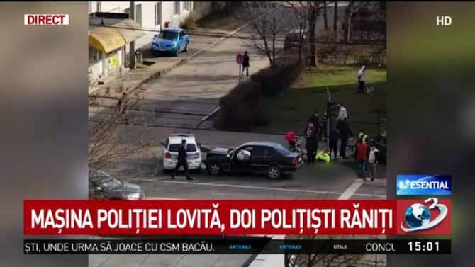Mașină de Poliție, implicată într-un accident în Baia Mare