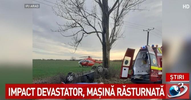 Accident Arad / Antena 3