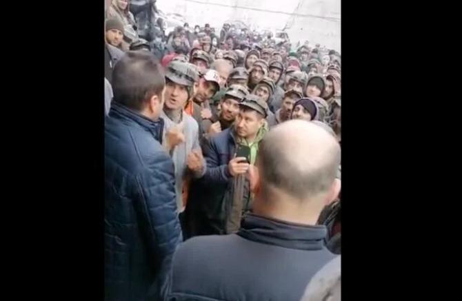 Protest mineri / Captură video Facebook