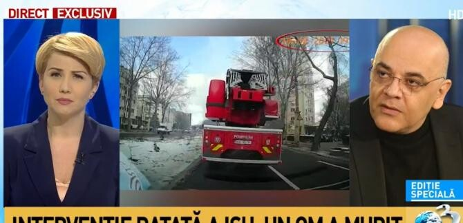 Incendiu Constanța / Captură Antena 3