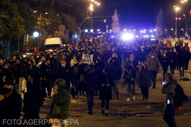 Barcelona, noi proteste după arestarea rapper-ului Pablo Hasel