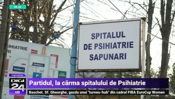 Spitalul de Psihiatrie Săpunari. Foto: Digi 24