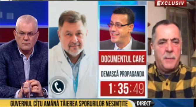 """Cezar Preda și Alexandru Rafila, critici la adresa miniștrilor din Guvern. """"Copiii ăștia s-au trezit miniștri"""". Foto: captură România TV"""