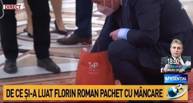 Florin Roman (PNL) a mers cu sacoșa cu mâncare la testarea de COVID-19 din Parlament