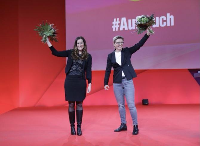 Janine Wissler si Susanne Hennig-Wellsow vor asigura conducerea Partidului Die Linke  Sursa foto: Twitter