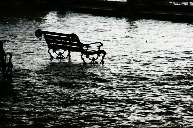 Covor de deşeuri din plastic în inundaţiile din Ungaria. Sursa: Pixabay